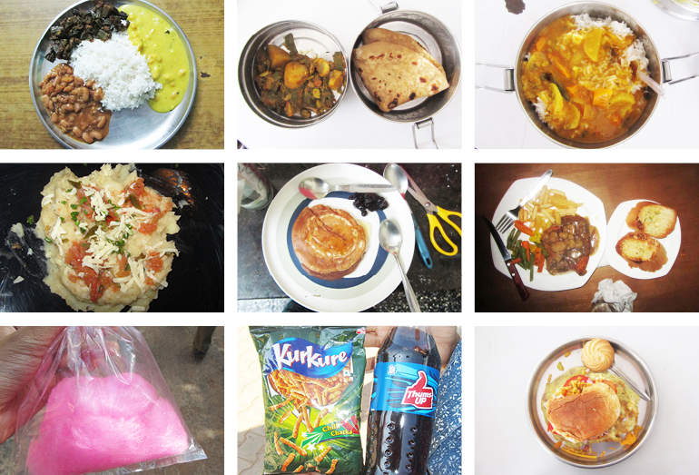 collage of a few food i ate in past 2 weeks.