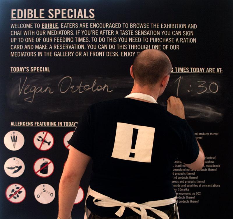 Edible Specials blackboard